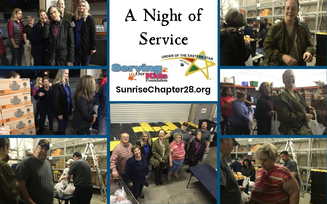 A Night of Service | Serving Our Kids Foundation
